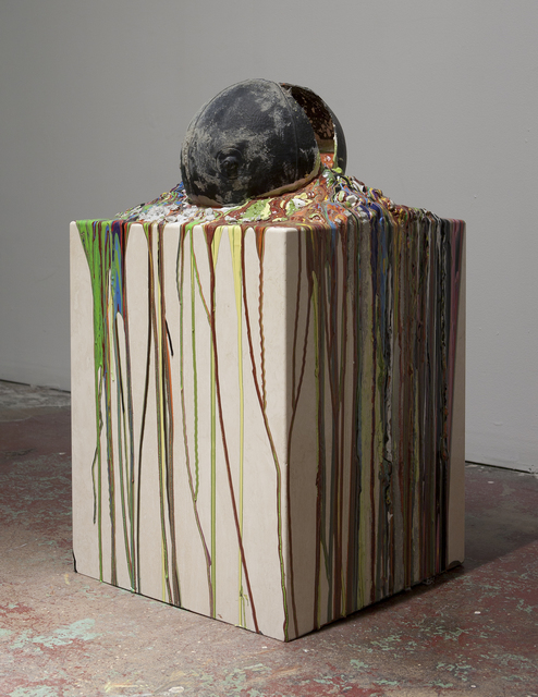 , 'Imploded Ball Barf (travertino, psychadelic death),' 2011, Nina Johnson