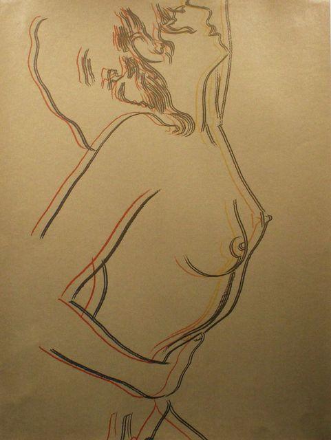 Andy Warhol, 'Love - Gold (Unique Silk-Screen on gold paper) (FSII.310)', 1983, Reuben Colley Fine Art