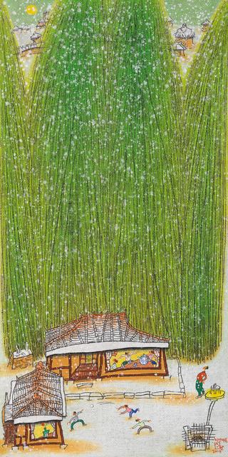 , '5하얀마음 61x122cm,' 2014, Gallery Miroonamu