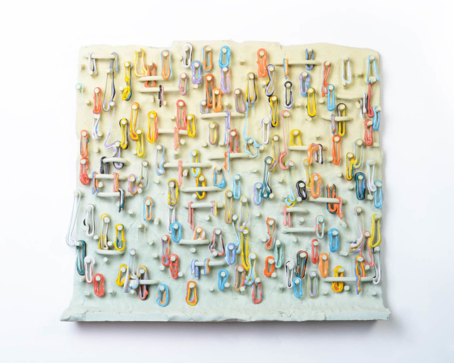 Lauren Mabry, 'Loopy Peg Painting (Light Yellow and Green)', 2019, Ferrin Contemporary