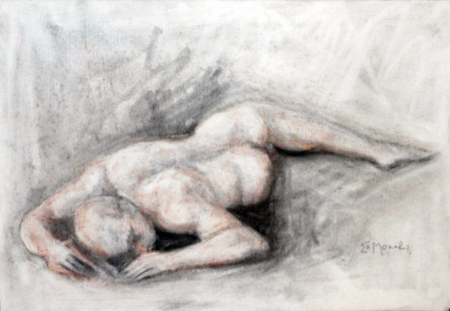 , 'Nu masculino deitado  |  Naked male lying down  ,' 2001, Galeria Canoa