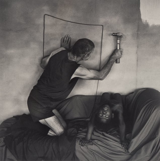 Roger Ballen, 'Les Hammering into Wall', 2000, Heritage Auctions