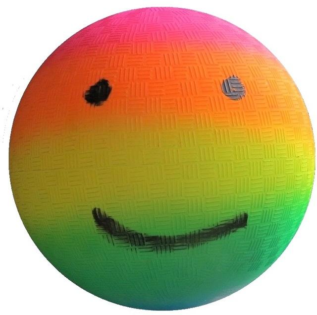 "Rob Pruitt, '""Rainbow Gradient Emoji Kickball"", 2018, Painted Kickball, UNIQUE', 2018, VINCE fine arts/ephemera"
