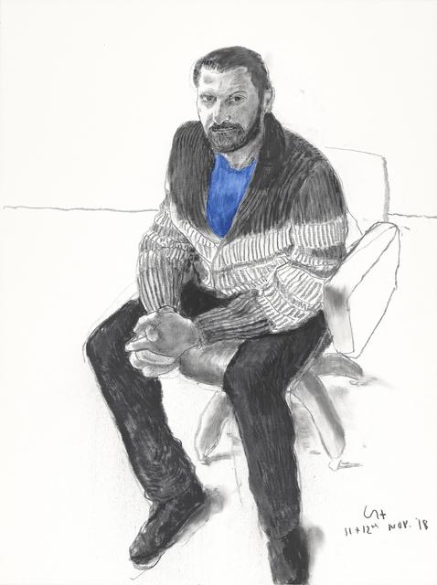 David Hockney, 'Jean-Pierre Gonçalves de Lima I', 2018, Annely Juda Fine Art