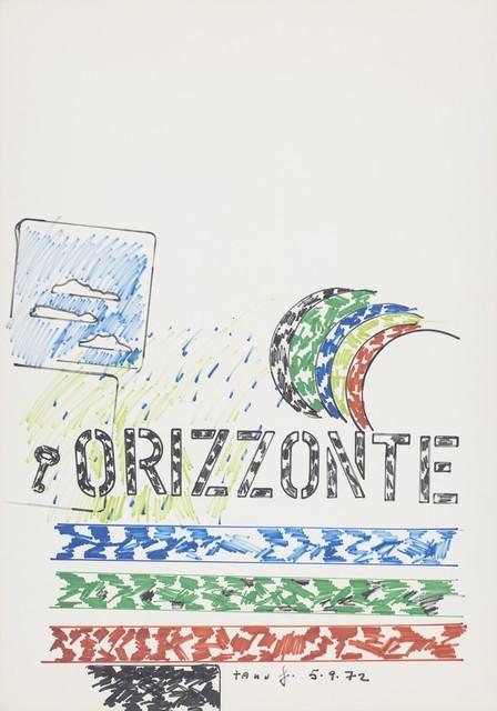 Tano Festa, 'Horizont', 1972, Finarte