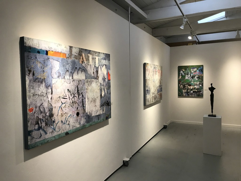 Claudia Marseille and Nancy Legge in Gallery Two