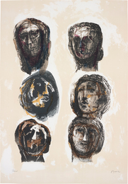 Henry Moore, 'Six Heads Olympians,' 1982, Phillips: Evening and Day Editions