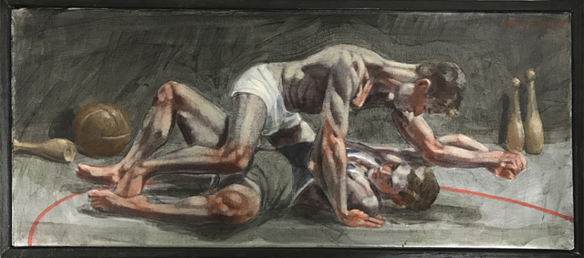 Mark Beard, '[Bruce Sargeant (1898-1938)] Wrestlers Practicing on the Mat', ClampArt