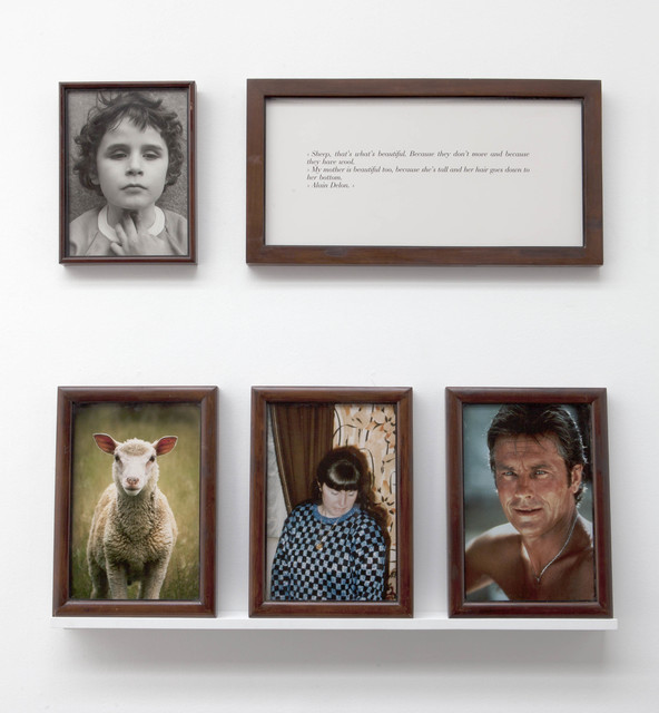 ", '""The Blind. Sheep, Delon, my mother"",' 1986, Perrotin"