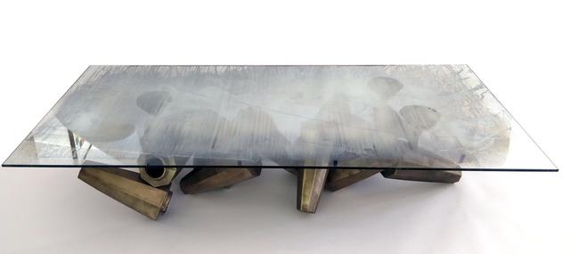 Gregory Nangle, 'Chaos Table', 2015, Design/Decorative Art, Glass, Cast Bronze, Wexler Gallery