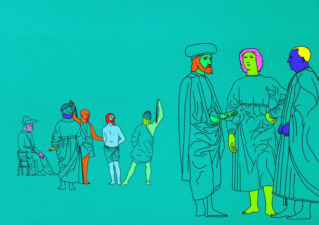 Michael Craig-Martin, 'Deconstructing Piero (turquoise blue) 1', 2004, Serge Sorokko Gallery
