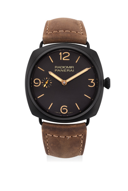 Panerai, 'A fine and attractive limited edition ceramic wristwatch with subsidiary seconds dial and additional strap, numbered 153 of a limited edition of 1,000 pieces', Circa 2013, Jewelry, Ceramic, Phillips