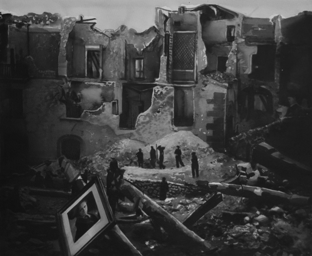, 'City of Eboli after the failed German counterattack during the allied Invasion of Italy on September 14, 1945.,' 2017, Christine König Galerie