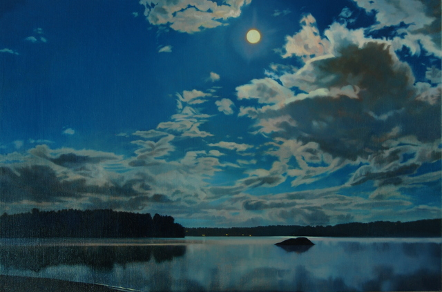 , 'Moon and Clouds,' 2014, West Branch Gallery