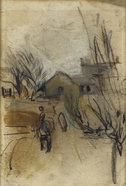, 'Figure and Farm Buildings,' 1960, The Scottish Gallery