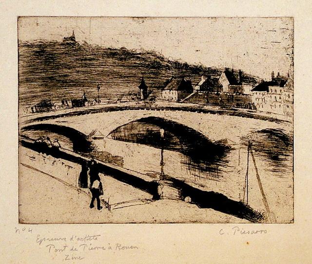 , 'Le Pont de Pierre, a Rouen,' 1887, Harris Schrank Fine Prints
