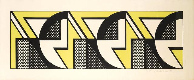 Roy Lichtenstein, 'Repeated Design', 1969, Print, Lithograph, Kunzt Gallery