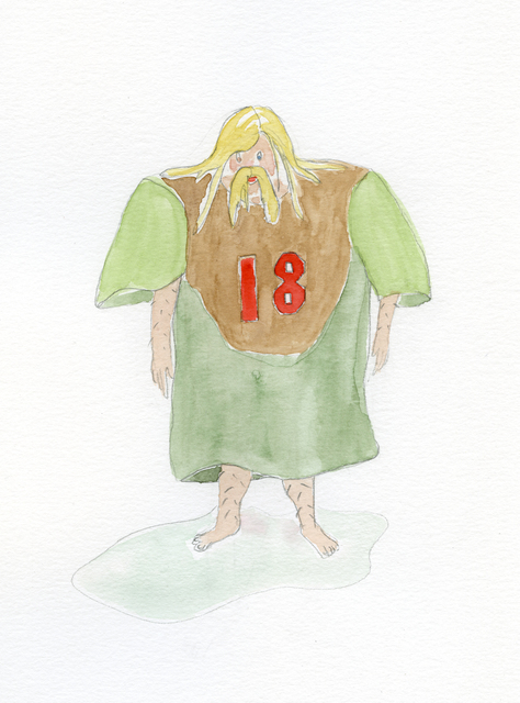 , 'Knight with too large jersey (sad),' 2019, Nosbaum & Reding