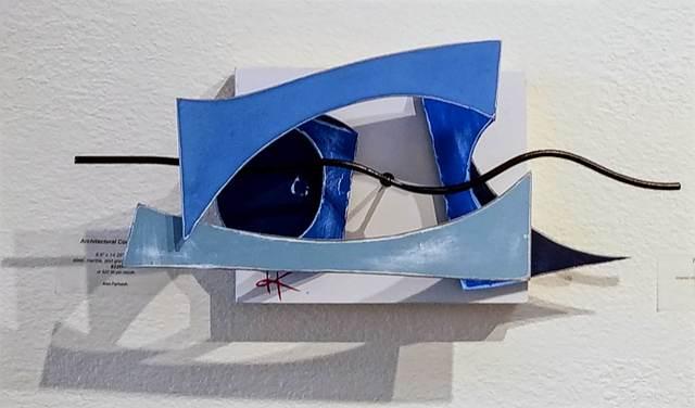 , 'Blue Construction,' 2019, Priscilla Fowler Fine Art