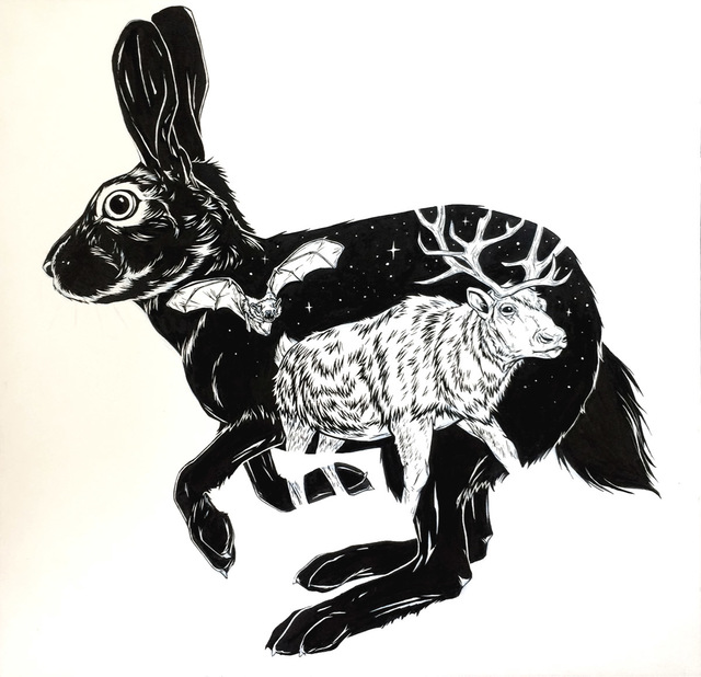 , 'The Rabbit, The Bat & The Reindeer,' 2018, Helikon Gallery & Studios