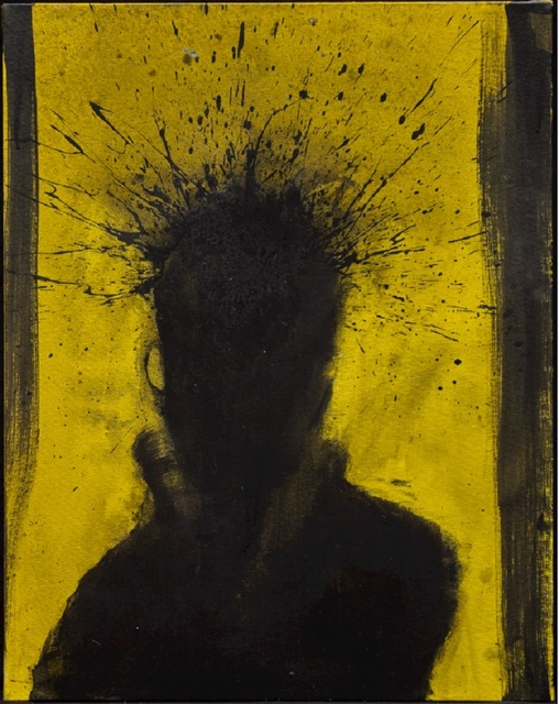 , 'Shadow Head with Yellow Background ,' 1992, Maddox Gallery
