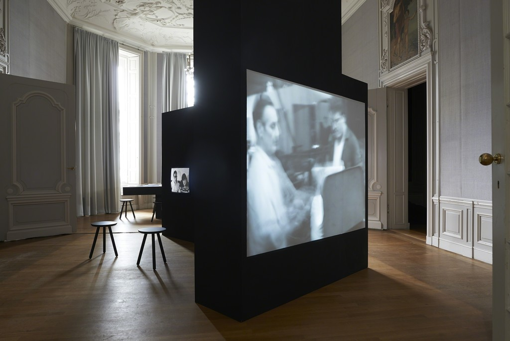 Installation view, 2018: Ira Schneider, Media Primer 1970/2012, 16:39 min., P. Ryan, I. Schneider, M. Shamberg, Making Radical Software, 1971/2010, 13:34 min. (from left to right)