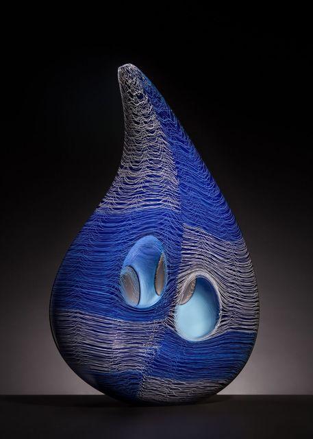 , 'Banded Blue Pod,' 2018, Blue Rain Gallery