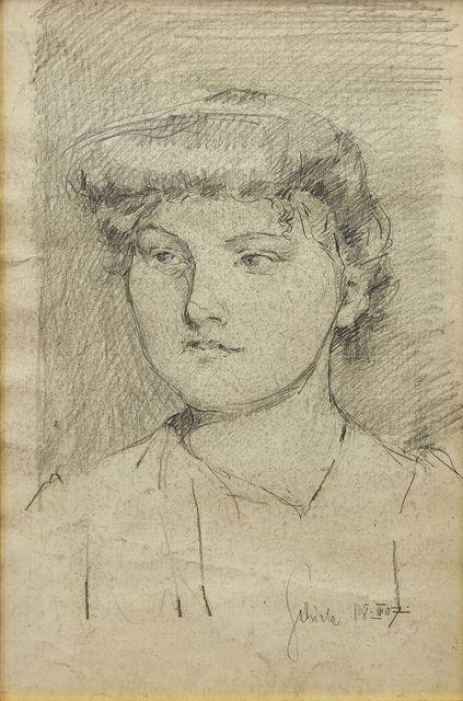 Egon Schiele, 'Portrait eines jungen Madchens' (Portrait of a young girl)', Roseberys