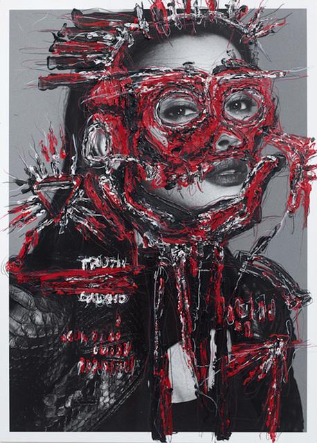 Hunter & Gatti, 'IWMYAS, Untitled II', 2017, Photography, Wax, acrylic oil pastel on glicée print archival metallic paper., The Art Design Project