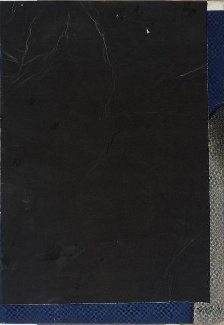 , 'Petit blank noir,' 1981, CARDI GALLERY