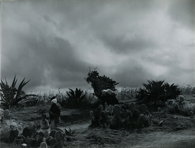 , 'A peasant family in a bleak landscape under a cloudy sky,' ca. 1976, Be-hold