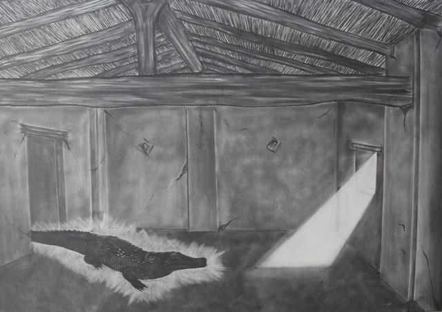 Jose Angel Santiago, 'EL GRAN LAGARTO EN LA CASA QUE CAE ', 2018, Galería Quetzalli