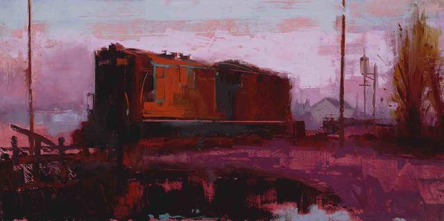 , 'Red Train,' 2017, Sue Greenwood Fine Art