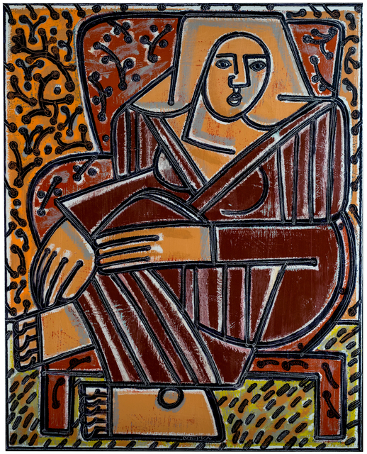 America Martin, 'Red Chair, Red Robe (Homage to Matisse)',  , JoAnne Artman Gallery