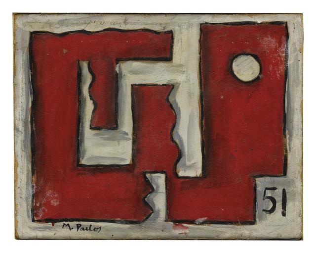 , 'Formas en rojo y blanco,' 1951, Galería de las Misiones