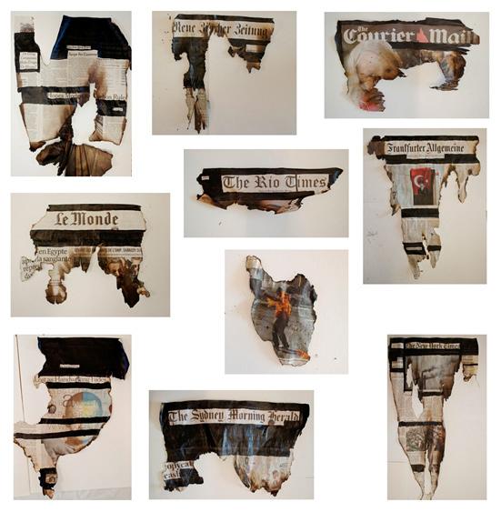 , 'UNMEDIA (THE RIOT TIMES),' 2014, Galería Vermelho