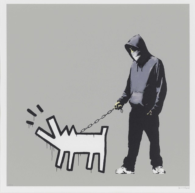 Banksy, 'Banksy - Choose Your Weapon (Que Jumper Grey) - Signed', 2010, Harper Deyong