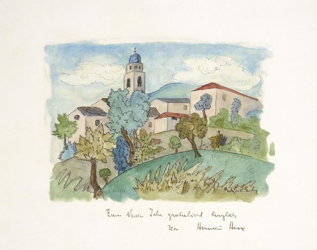 , 'Tessiner Dorf im Sommer,' 1922, Ludorff
