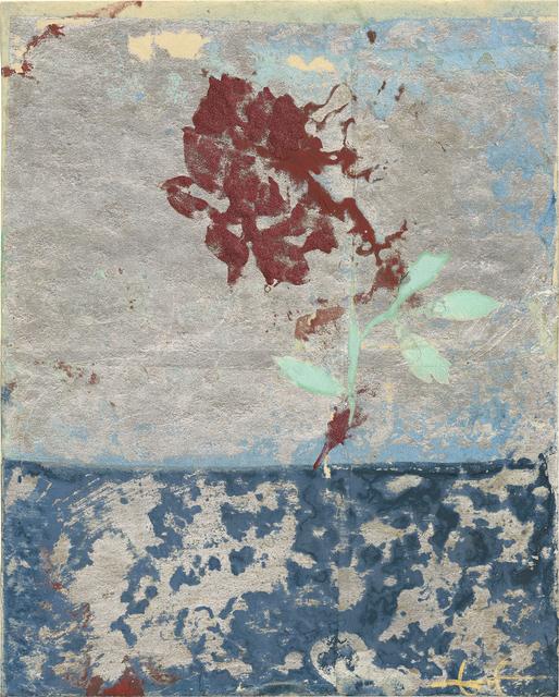 Makoto Fujimura, 'Silver Rose  銀 玫瑰', 2016, Painting, Mineral Pigments and silver on Kumohada on Board       天然礦物顏料、雲肌紙, Artrue Gallery