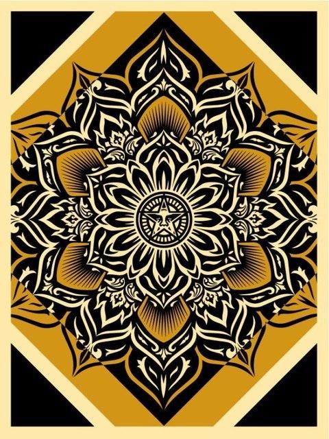 Shepard Fairey, 'GOLD Lotus Diamond', AYNAC Gallery