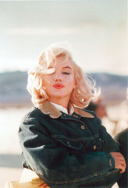 , 'US actress Marilyn Monroe on the Nevada desert during the filming of The Misfitsinches, directed by John Huston, USA,,' 1960, Atlas Gallery