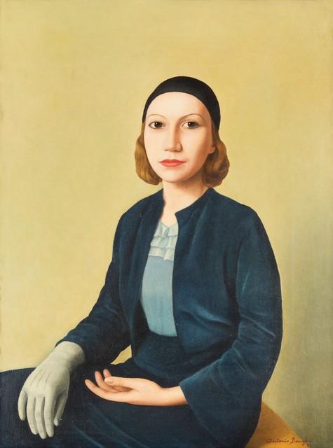 Antonio Donghi, 'Abito azzurro', 1933, Cambi