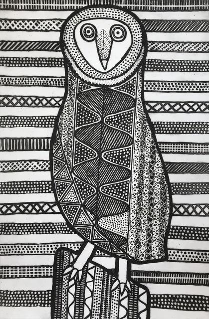 , 'Pinjoma (Barn Owl),' 2017, Queenscliff Gallery & Workshop