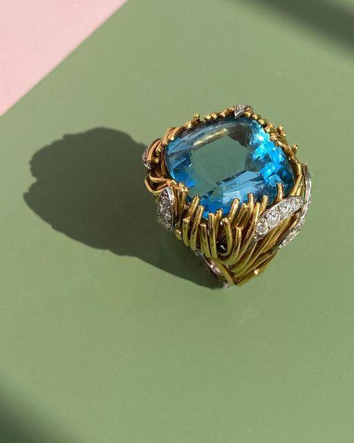 , 'Aquamarine and Diamond Ring,' 1968, Grima