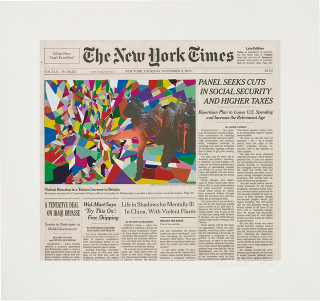 Fred Tomaselli, 'November 11, 2010', 2011, Print, Inkjet print with screenprint in colours, on wove paper, with full margins, Phillips