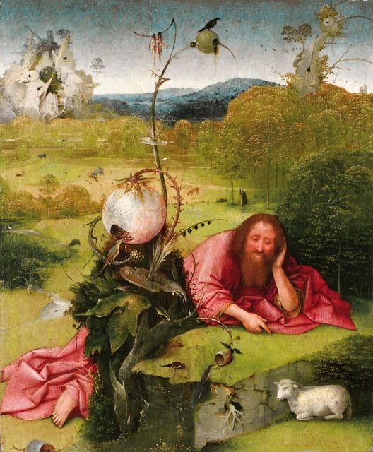 Hieronymus Bosch, 'Saint John the Baptist in the Wilderness', ca. 1489, Painting, Oil on panel, Museo Nacional del Prado