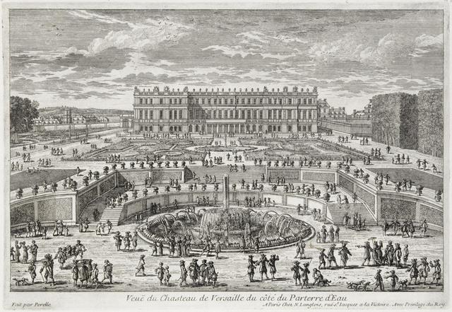 , 'Veue du chasteau de Versailles (View of Versailles, garden facade),' ca. 1680, Château de Versailles