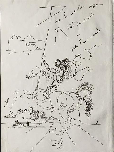 , 'Cavalier dans un paysage avec personnages assis et enfant,' 1951, Fairhead Fine Art Limited