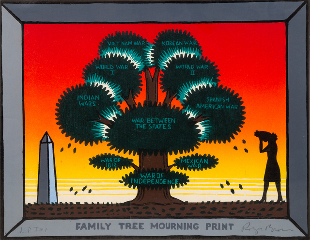 Roger Brown, 'Family Tree Mourning Print', 1987, Hindman