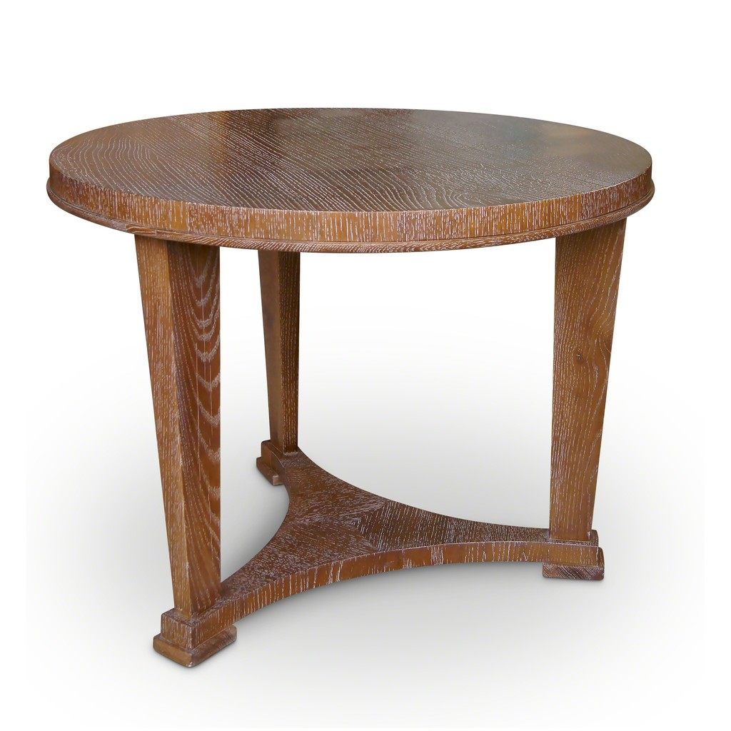 André Arbus, U0027Neoclassical Side Or Coffee Table In Limed Oaku0027, 1930